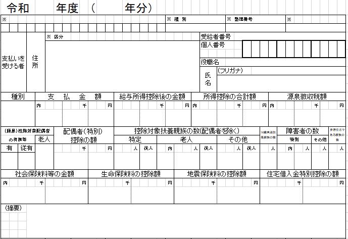 kyuyo shiharai Hokokusho